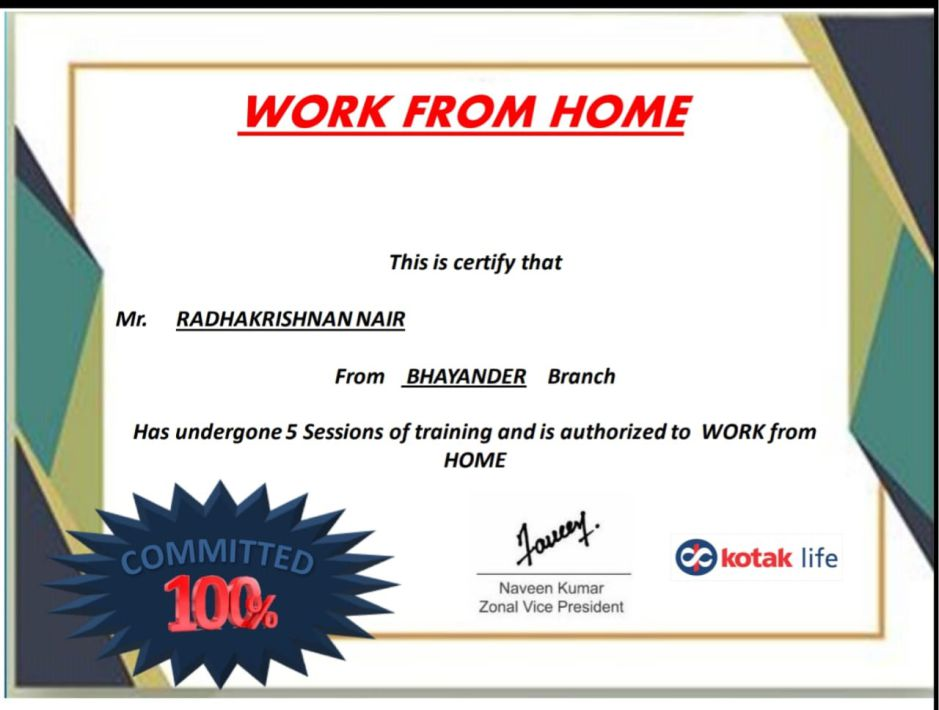 Certificate WFH